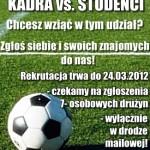 MECZ PIŁKI NOŻNEJ KADRA vs. STUDENCI NA WPiA!